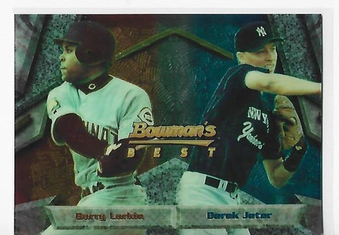 Barry Larkin / Derek Jeter 1994 Bowman's Best #95 Card