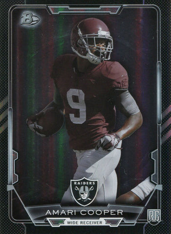 Amari Cooper Unsigned 2015 Topps Bowman Rookie Card