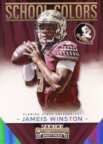 Jameis Winston Unsigned 2015 Panini Draft Picks Contenders Card