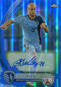 Aurelien Collin Autographed 2014 Topps Power Ranking Chrome Card