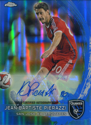 Jean-Baptiste Pierazzi Autographed 2014 Topps Power Ranking Chrome Card