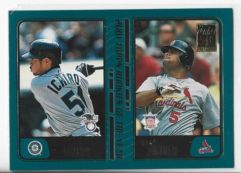 Ichiro / Albert Pujols 2001 Topps Rookies Of The Year #T99 Card
