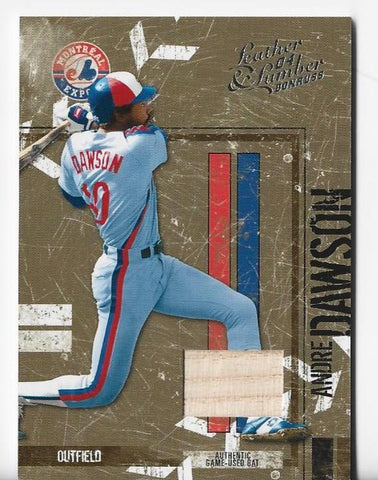 Andre Dawson 2004 Donruss Leather Lumber #84 (088/100) Game-Used Bat Card