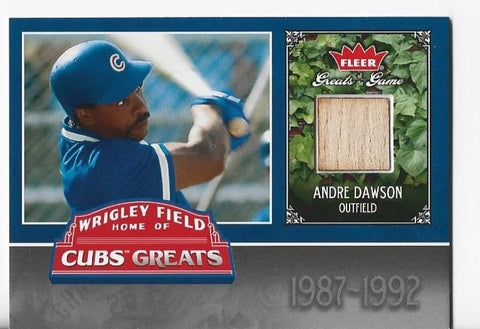 Andre Dawson 2006 Fleer Greats Of The Game #CHC-AD Game-Used Bat Card