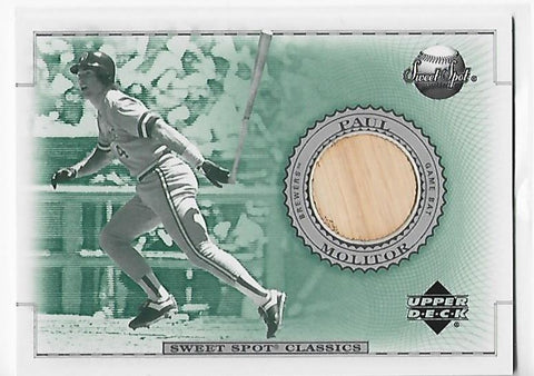Paul Molitor 2002 Upper Deck Sweet Spot Classics #B-PM Game-Used Bat
