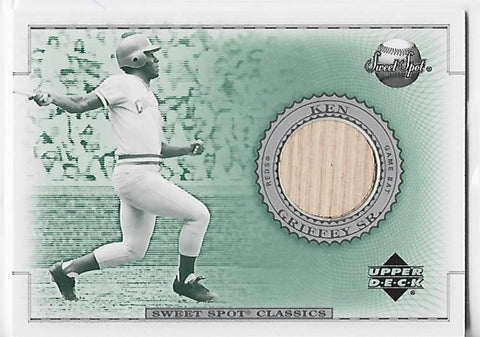 Ken Griffey Sr. 2002 Upper Deck Sweet Spot Classics #B-KG Game-Used Bat Card