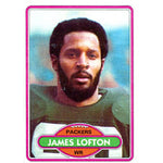 James Lofton Unsigned 1980 Topps Card