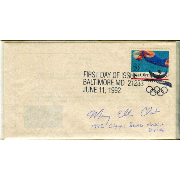 Mary Ellen Clark Autographed First Day Cover