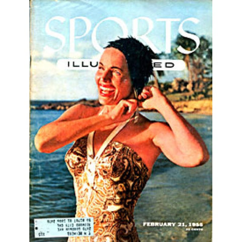 Betty DiBugnano Unsigned Sports Illustrated Magazine -February 21 1955
