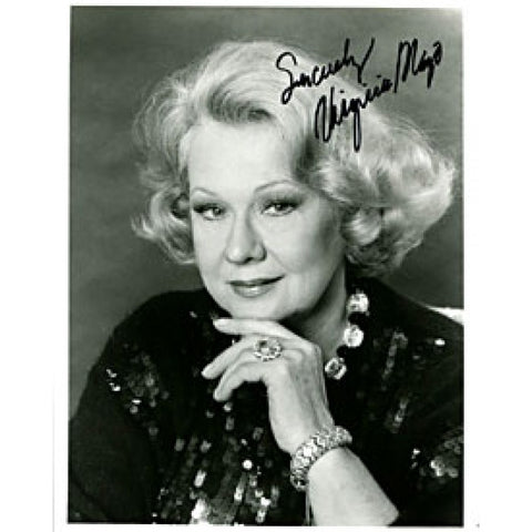 Virginia Mayo Autographed / Signed Black & White 8x10 Photo