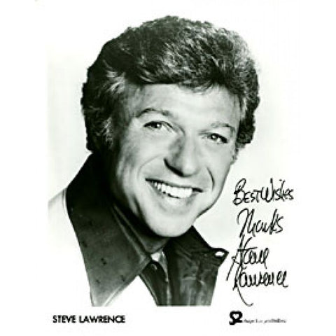 Steve Lawrence Autographed / Signed Black & White 8x10 Photo