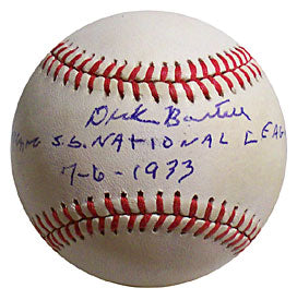 Dick Bartell National League 7-6-1933 Autographed / Signed Baseball