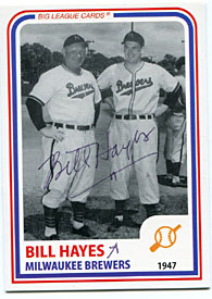 Bill Hayes Autographed/Signed Card