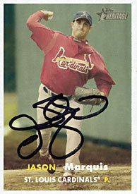 Jason Marquis Autographed / Signed 2006 Topps No.453 St. Louis Cardinals Baseball Card