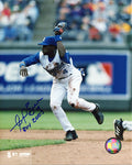 Angel Berroa ROY 2003 Autographed / Signed Making a Catch Kansas City Royals 8x10 Photo