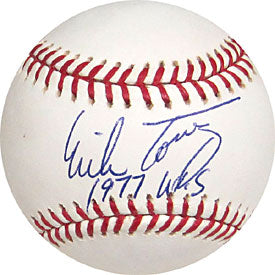 Mike Torrez 1977 WS Autographed / Signed Montreal Expos Baseball