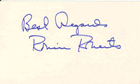 Robin Roberts Autographed / Signed 3x5 Card