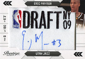 Eric Maynor Autographed / Signed 2009 Panimi America No.071/125 Basketball Card