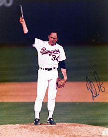 Nolan Ryan Autographed / Signed Texas Rangers Baseball 8x10 Photo