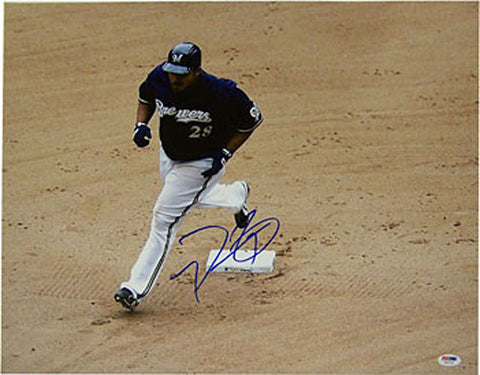 Prince Fielder Autographed / Signed 16x20 Photo (PSA)