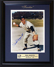 Phil Rizzuto Autographed / Signed Framed 8x10 Photo