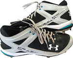 Logan Morrison Game Used 2010 Autographed / Signed Game Used Under Armour Metal Cleats