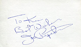Joe Pepitone Autographed / Signed 3x5 Card