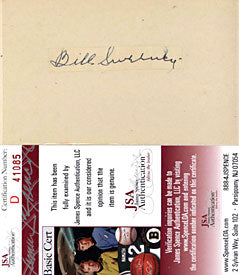 Bill Sweeney Autographed / Signed Cut on a 3x5 Card - 1910 (JSA)