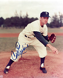 Carl Erskine Signed / Autographed Brooklyn Dodgers Baseball 8x10 Photo
