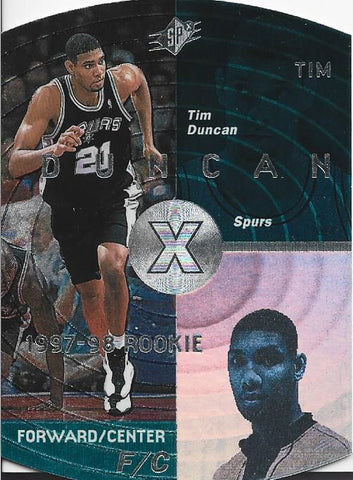 Tim Duncan 1998 SP Rookie Card