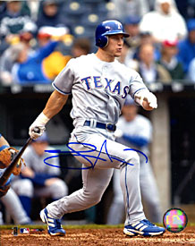 Lance Nix Autographed / Signed Hitting 8x10 Photo