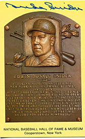 Duke Snider Autograph/Signed Baseball HOF Plaque