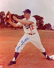 Jim Gentile Autographed / Signed Brooklyn Dodgers 8x10 Photo