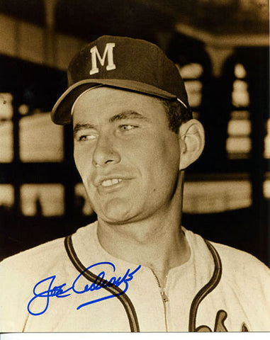 Joe Adcock Autographed / Signed Milwaukee Braves 8x10 Photo