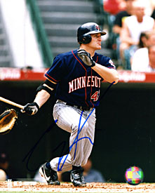 Corey Koskie Autographed / Signed Hitting 8x10 Photo