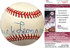 Buck Leonard Autographed / Signed Baseball (James Spence)