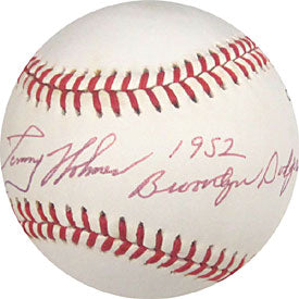 Tommy Holmes 1952 Brooklyn Dodgers Autographed / Signed Baseball