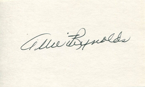 Allie Reynolds Autographed / Signed 3x5 Card