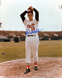 Hoyt Wilhelm Autographed / Signed Baltimore Orioles Baseball 8x10 Photo