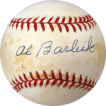 Al Barlick Autographed / Signed William White American League Baseball (JSA)