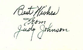 Judy Johnson Autographed / Signed 3x5 Card Negro League