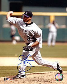 Shawn Chacon Autographed / Signed Pitching 8x10 Photo