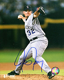Jason Jennings Autographed / Signed Throwing A Pitch 8x10 Photo