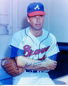 Eddie Mathews HOF '78 Autographed / Signed 8x10 Photo
