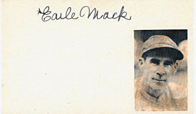 Earle Mack Autographed / Signed 3x5 Card