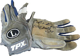 Carlos Santana Autographed/Signed Game Used Batting Glove
