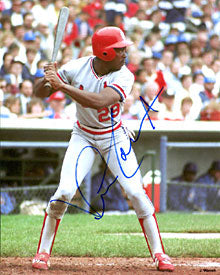 Vince Coleman Autographed / Signed Hitting 8x10 Photo