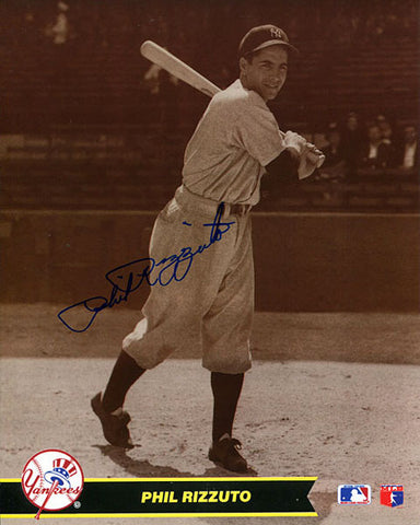 Phil Rizzuto Autographed / Signed New York Yankees Sepia 8x10 Photo