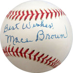 Mace Brown Autographed / Signed Baseball (JSA)