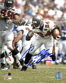 Cadillac Williams Autographed / Signed Running with the Ball 8x10 Photo